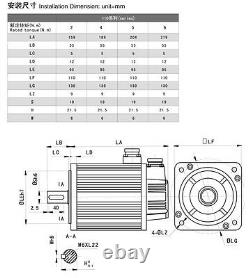 1.8KW 6NM AC Servo Driver 4Axis/3Axis Servo Motor NEMA42 3000RPM+ CNC Controller