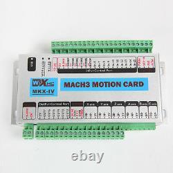 2020 4 Axis USB Mach3 CNC Motion Control Card Breakout Board 2MHz Windows 7