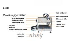 220V EU USB 4 Axis 1.5KW 6040 CNC Router Engraver Milling Machine + Controller f