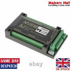 3/4 Axis CNC 200Khz USB Ethernet Control Card Breakout Interface Mach3 Board