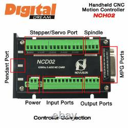 3-6 Axis NCH-02 CNC Handheld Motion Controller with Pendant Offline Stand Alone