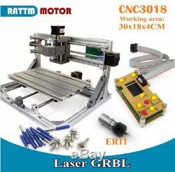 3 Axis CNC 3018 Mini Router PVC PCB Wood Cutting Milling Machine+Offline Control