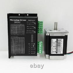 3 Axis CNC Controller Kit NEMA23 Stepper Drive & Motor 425oz-in & Power Supply