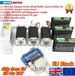 3 Axis Driver Board Nema23 425oz 3A Stepper Motor CW5045 CNC Controller KitsUK