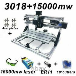 3018 GRBL Control CNC Engraving Machine DIY 3 Axis PCB Wood Router With 15000mw