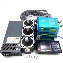 3Axis Closed Loop 4.5NM Stepper Motor Nema34 Driver+ CNC Controller +Transformer