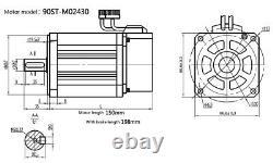4 AXIS 750W AC Servo Motor Nema34 2.4NM & 4Axis Mach3 Motion Controller CNC Mill