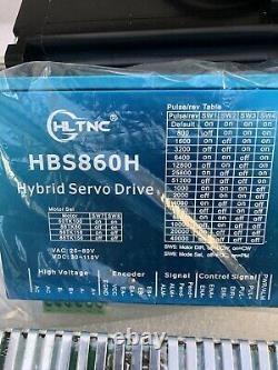 4 Axis 12NM C/L Stepper NEMA34 Hybrid Servo CNC power supply Controller Chuck