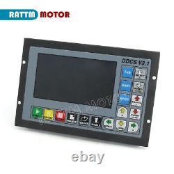 4 Axis 500KHz Motion Offline CNC Controller System TFT Screen PLC DDCS V3.1 ES