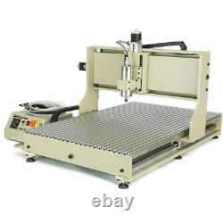 4 Axis 6090 USB CNC Router Engraver Carving Machine Milling 1.5KW VFD+Controller