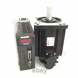 4 Axis 750W NEMA34 AC Servo Motor Drive Kit 2.4NM CNC Controller for CNC Milling