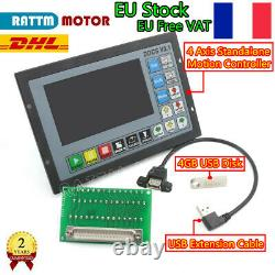 4 Axis DDCS V3.1 Stand Alone 500KHZ Motion Offline CNC Controller G-code/M code