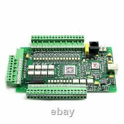 4 Axis E-Cut USB MACH3 Motion Control Card CNC Interface Breakout Driver Board