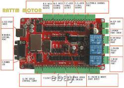 4 Axis Nema23 425oz-in 112mm 3A Stepper Motor Driver USB CNC Controller BoardES
