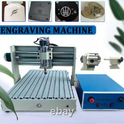 4Axis CNC USB 3040 Router Engraving Machine Carving Cutter 400W + Remote Control