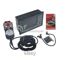 500KHZ 4-Axis CNC Motion Motor Driver Controller & MPG Pendant Handwheel