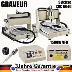 6040 3 Axis CNC Router Engraver Engraving Machine 3D 1.5KW VFD & Remote Controll