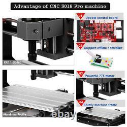 CNC 3018 Pro GRBL Control CNC Router Machine 3 Axis Laser Engraving Machine UK