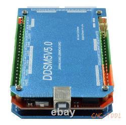 CNC 5 Axis 200khz USB Mach3 Aluminum Card Controller Breakout Interface Board