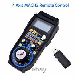 CNC MACH3 4 Axis Electronic Wireless Handheld Handwheel Controller USB
