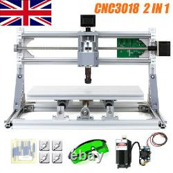 CNC3018 DIY CNC Router Kit 2IN1 Laser Engraving Machine GRBL Control 3Axis +ER11