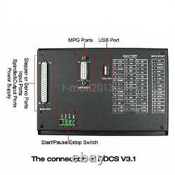 DDCSV3.1 4 Axis CNC Controller Engraving Drilling Machine 500KHz + MPG Handwheel