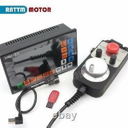 DE Stock 4 Axis CNC Lathe Motion Controller System Offline G Code with Handwheel