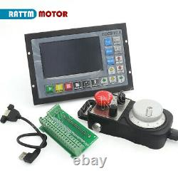 DE Upgrade 24V 500KHZ CNC 4 Axis Controller Motion System G Code+MPG Handwheel