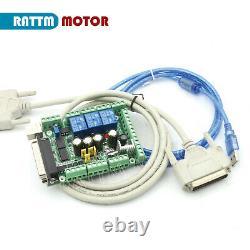 DE4 Axis Nema34 878oz-in Stepper Motor Driver Mach3 CNC Router Controller Kit