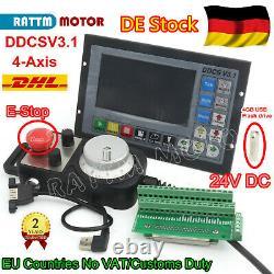 DE4Axis CNC Controller DDCS V3.1 Offline PLC+MPG Handwheel+eStop f/ CNC Router