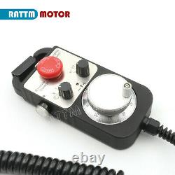 ES/DE/EU4 Axis CNC Control Offline Stand Alone Motion Controller+Handwheel MPG