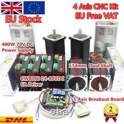 EU 12N. M Nema34 Stepper Motor 1600oz-in 5A 4Axis Mach3 CNC Driver Controller Kit