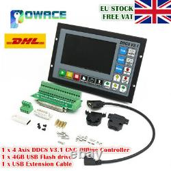 EU 4 Axis DDCS V3.1 Standalone Motion Offline CNC Controller 5 inches TFT Screen