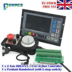 EU 4 Axis DDCS V3.1 Standalone Motion Offline CNC Controller+MPG Handwheel