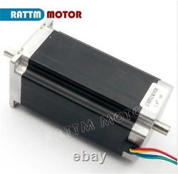 EU 4-Axis Nema 23 Dual Shaft Stepper Motor 425 oz-in Driver Controller CNC Kit