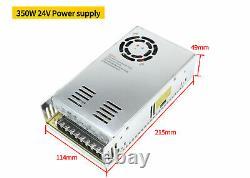 EU 4 Axis USB Mach3 Control CNC Kit Nema23 Stepper Motor Driver 270oz-in 76mm