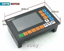 EU CNC 4 Axis Offline Stand Alone 500KHz Motor Motion Controller+MPG Handwheel
