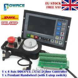 EU4-Axis DDCS V3.1 Standalone Motion Offline CNC Controller TFT+MPG Handwheel