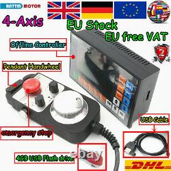 EU4-Axis Motion Controller CNC Router Offline Stand Alone System+Handwheel MPG