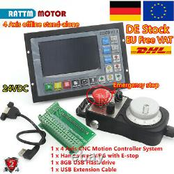 Ger DDCSV3.1 Offline Stand Alone 4 Axis CNC Controller System With Handwheel MPG