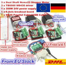 Ger3 Axis Schrittmotoren Nema 23 Stepper Motor Driver Board CNC Controller Kit