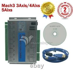 Mach3 3/4/6 Axis Motion Controller Card USB CNC Breakout Board with Software