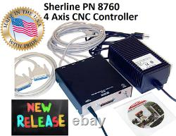 Sherline 8760 4 Axis CNC controller + Linux OS and Linux CNC software