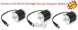 Sherline PN 8771 4 axis controller, Power Supply + 3 High torque Stepper Motors
