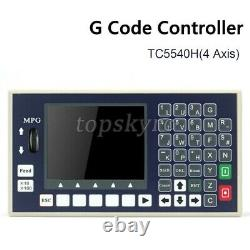 TC5540H 4 Axis CNC Controller System G Code Motion Controller with MPG For CNC tps