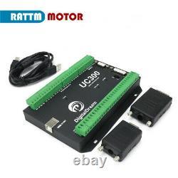 UC300 6 Axis CNC Controller Card MACH3 Interface USB Motion Control Board EU
