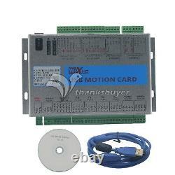 USB 2MHz 2000KHz Mach4 3/4/6 Aixs Motion Control Card Breakout Board CNC Router