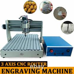 USB 3040T 3 Axis CNC Router Engraver Engraving Machine Woodwork+Controller 400W