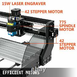 VEVOR 3018 Pro-M CNC Router 15With5.5With2.5With0.5W Engraver 3 Axis GRBL Control