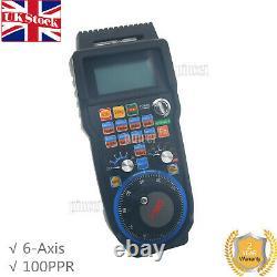 Wireless Electronic Handwheel 6-Axis Controller USB Handle MPG CNC MACH3 UK